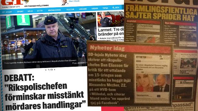 Är Expressen själva en främlingsfientlig publikation? Foto: faksimil expressen.se samt den tryckta utgåvan.