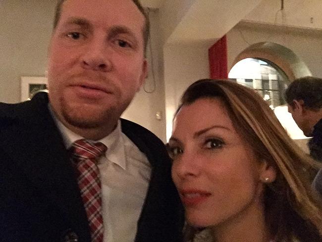 """Enligt Friberg var det """"kärleksmingel"""" den här kvällen. Foto: Privat"""