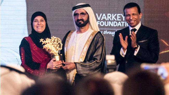 Prisceremonin utspelades i Dubai och segraren korades av påven Franciscus via videolänk. Foto: GTP
