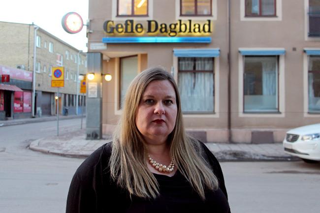Gefle Dagblads chefredaktör Anna Gullberg. Foto: Gefle Dagblad