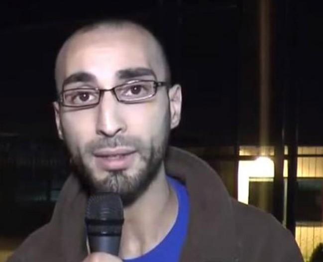 Faycal Cheffou är frilansjournalisten som är gripen för terrorbrott, mord och försök till mord och förmodas bland medier vara den tredje försvunne självmordsbombaren. Foto: Youtube