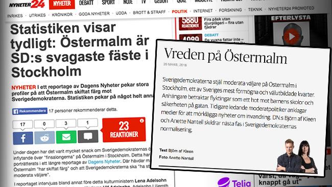 Om till och med Nyheter24 lyckas läxa upp en är det kanske dags att fundera? Bilden är ett montage. Foto: Faksimil nyheter24.se samt fokus.dn.se