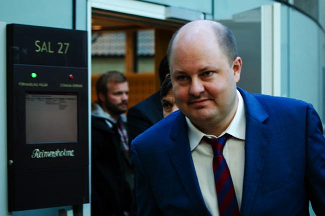 Expressens chefredaktör Thomas Mattsson står åtalad vid Stockholms  tingsrätt för grovt förtal. Foto: Nyheter Idag