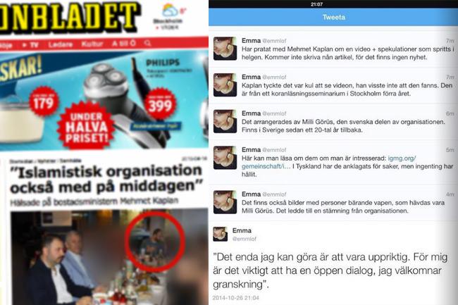 Det råder helt olika syn på nyhetsvärdering mellan DN å ena sidan och Aftonbladet, Nyheter Idag med flera å andra sidan. Foto: Faksimil aftonbladet.se samt Twitter