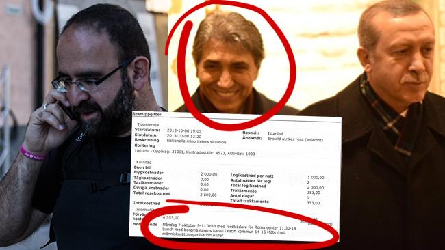 Dokumentet avslöjar Kaplans hemliga möte med den korrupte borgmästaren Mustafa Demirs kansli. Demir står nära president Erdogan. Bilden är ett montage.