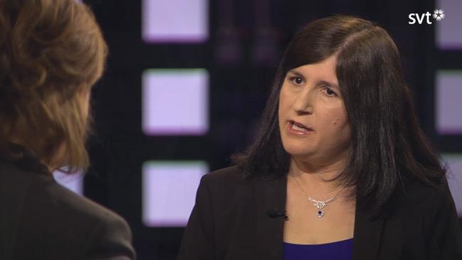 Pekgul berättade om islamism i svensk politik i SVT Agenda. Foto: svtplay.se