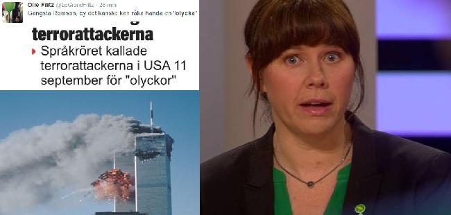 Romsons benämning av terrordåden 11 september 2001 har mött mycket kritik, inte minst i sociala medier. Foto: Faksimil/Youtube