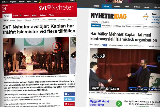"""SVT Nyheter ljuger för läsarna om vad de kallar eget """"avslöjande"""". Nyheter Idag var före med ett och ett halvt år. Foto: Faksimil svt.se samt Nyheter Idag"""
