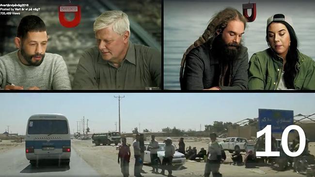 Ja, var är vi på väg? Det funderar kändisarna på i en ny kampanjvideo för asylrätten. Foto: Faksimil Facebook