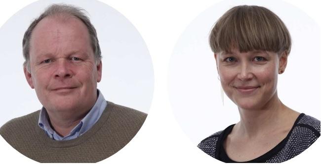 Lina Aldén och Mats Hammarstedt vid Linnéuniversitetet ligger bakom Sveriges första forskningsstudie om flyktingarnas nettokostnader på offentliga finanser där man räknat faktiska intäkter och kostnader per person och över längre tid. Foto: Montage/LNU.se