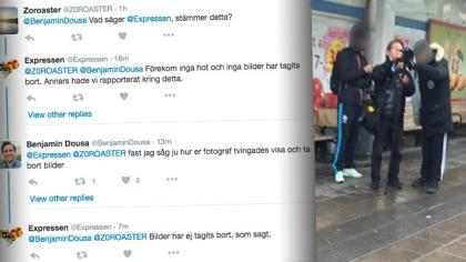 """Ögonvittnet om Husby-ungdomarnas hot mot Expressen-journalist: """"Tvingades visa och ta bort bilder"""""""