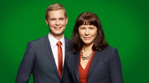 Klockan klämtar för Fridolin och Romson. Foto: Pressbild Miljöpartiet