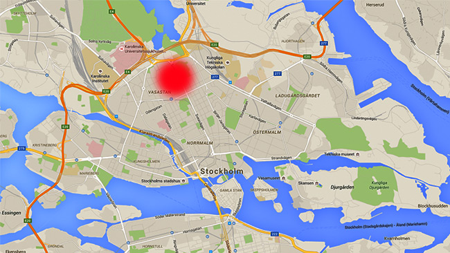 Frejgatan ligger vid Vasastan i centrala Stockholm. Foto: Faksimil Google maps