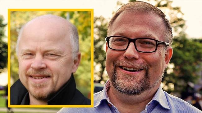 Stig Henrikssons och Mikael Janssons respektive partier kommer i veckan medverka till att beslutet om värdlandsavtalet med Nato skjuts på minst ett år. Foto: Pressbild/Nyheter Idag/montage