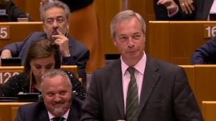 Farage var i prima form i EU-parlamentet när han smädade församlingen. Foto: Faksimil Youtube