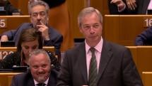 """Här toksmädar Nigel Farage EU-parlamentet efter Brexit: """"Nu skrattar ni inte längre, va?"""""""