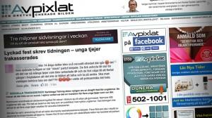 Ett triangeldrama utspelas mellan Karlskoga Tidning, Avpixlat och sajten Inte rasist men. Foto: Faksimil Avpixlat