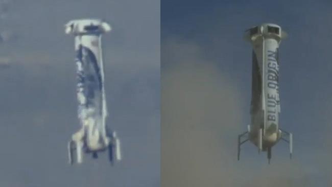 "Bägge ""raketer"" i luften."