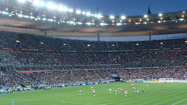 Arenan Stade de France i Saint Denis är en av platserna där EM i fotboll spelas. Foto: Wikimedia Commons