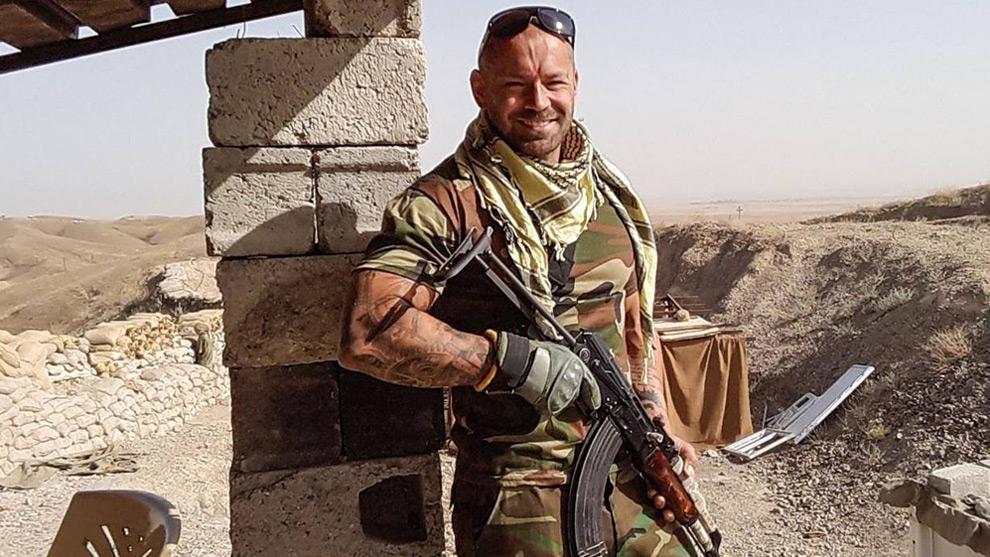 Anders Högström står vid fronten mot Islamiska staten. Foto: Privat