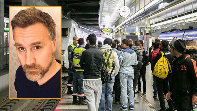 Jonas Andersson arbetar som ungdomspedagog och berättar om erfarenheter där ensamkommande varit vuxna. Foto: Privat samt pressbild Migrationsverket
