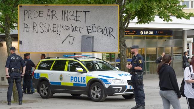 """Era horbögar"": HBT-aktivist misshandlad i Rissne – Polisen beslagtog tiotalet brandbomber"