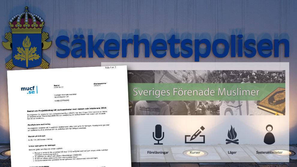 Beviljades skattebidrag – trots Säpo-utredning.