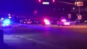 Eldväxlingen hörs från videon filmad inifrån en bil. Foto: Faksimil Youtube