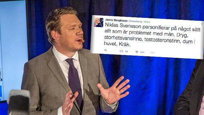 Svensson överväger att vidta åtgärder mot Bengtsson. Foto: Nyheter Idag samt Twitter