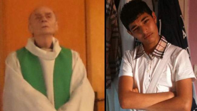 Till vänster: Prästen Jacques Hamel. Till höger: Gärningsmannen Adel Kermiche.