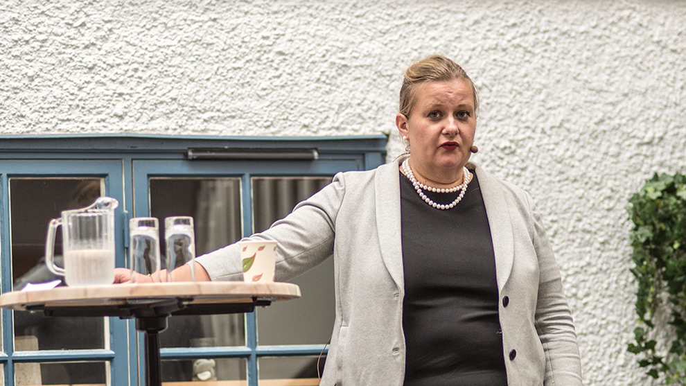 Gefle dagblads chefredaktör Anna Gullberg. Foto: Nyheter Idag