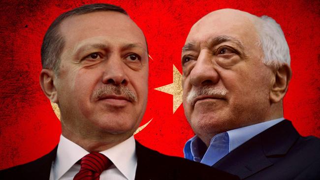 Erdogan till vänster, Gülen till höger: Montage: Nyheter Idag