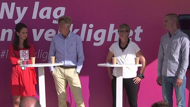 Ett av Migrationsverkets paneldebatter under Almedalsveckan. Foto: migrationsverket.se