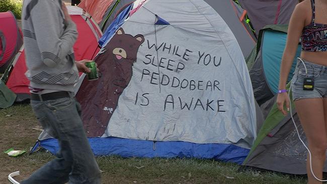 Campingen på Peace & Love tidigare år. Foto: Nyheter Idag