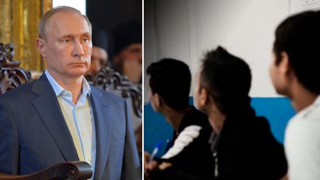 Afghanska ensamkommande barn kan vara del i Putins migrationsvapen. Det menar försvarsexperten Lars Nicander. Foto: putin.kremlin.ru samt Migrationsverket