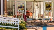 Hjullastare, fotanglar och personbil i smash and grab-kupp mot Siba
