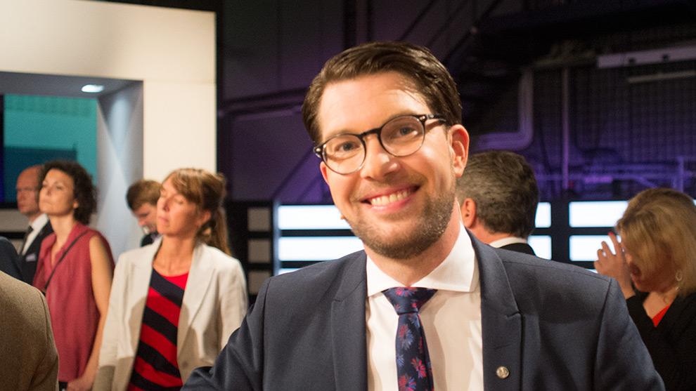 Störst andel lojala väljare har Jimmie Åkessons parti Sverigedemokraterna. Foto: Nyheter Idag