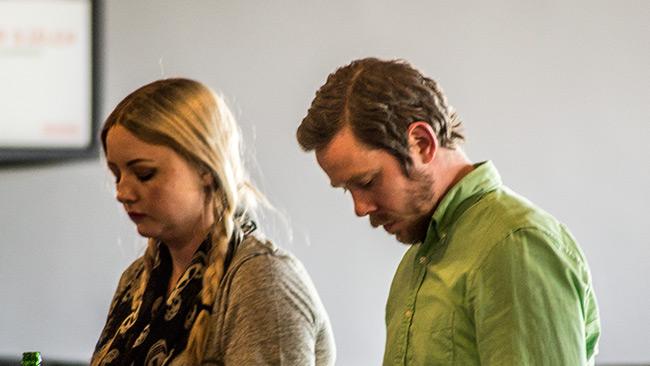 Margret Atladottir och Eric Rosén, redaktörer på Politism. Foto: Nyheter Idag