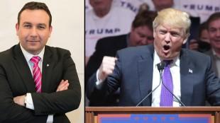 Jimmy Baker (t.v) tror att Trump hade haft en chans hos invånarna i Botkyrka. Foto: Wikimedia Commons