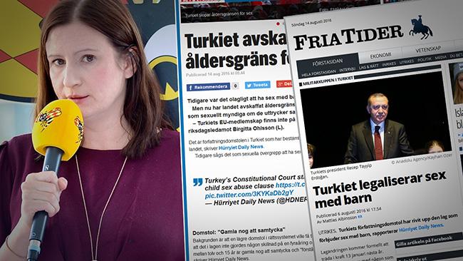 """Birgitta Ohlsson kommenterar först när """"rätt"""" media rapporterar. Montage: Nyheter Idag"""