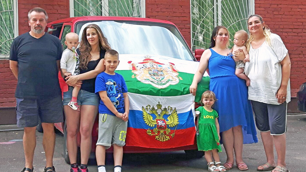 Familjen Griesbach söker asyl i Ryssland. Foto: Caters News Agency