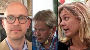 Gudmundson (t.v), Lindberg (i mitten) och Andersson (t.h).