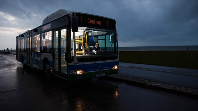 Bussen och chauffören på bilden har inget med händelsen att göra. Foto: CC Pressbild Nobina