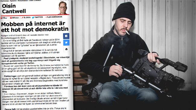 Chang (t.h) tar gärna en diskussion med Oisín. Foto: Faksimil aftonbladet.se samt Nyheter Idag