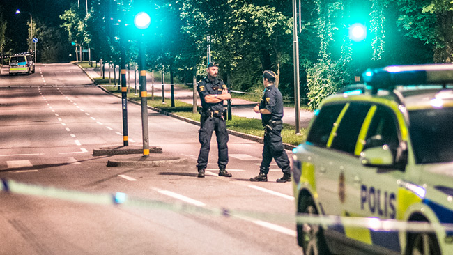 Poliser i arbete. Genrebild. Foto: Nyheter Idag