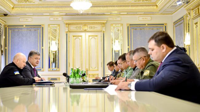 Möte mellan Porosjenko och säkerhetstjänsten.