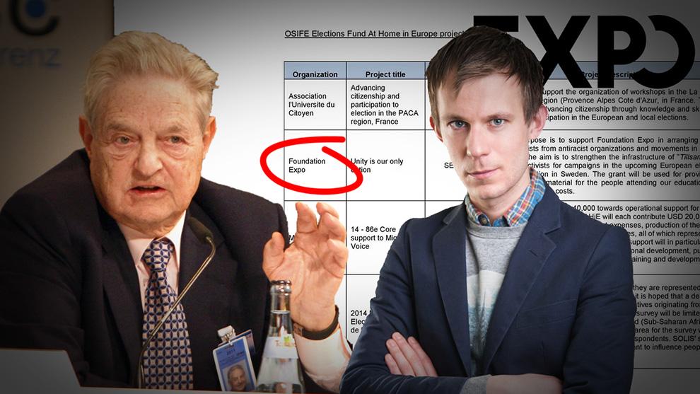 George Soros och Alexander Bengtsson. Montage: Nyheter Idag