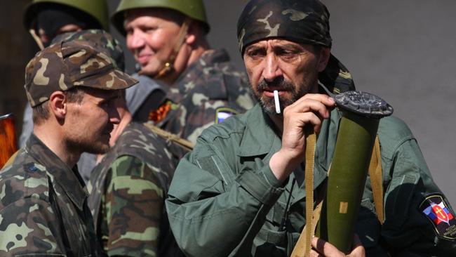 Pro-ryska kombattanter. Bilden är tagen vid ett tidigare tillfälle. Foto: UNIAN