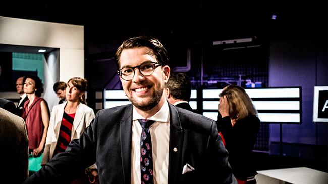 Jimmie Åkesson (SD) har anledning att vara glad. Foto: Nyheter Idag
