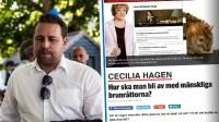 Karlsson uppmanar till bojkott mot Expressen. Foto: Nyheter Idag samt faksimil expressen.se